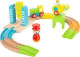 Junior houten treintje met helikopter_