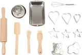 Bak set voor kids - Met koekjessnijders, bakblikken en de uitgebreide accessoires_