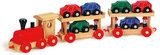 Trein die auto's vervoerd - Set van 13 voertuigen - spoorwegen_