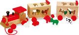 Vormenstoof + Trekfiguur houten dierentrein_