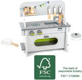 Compacte speelkeuken hout - FSC_