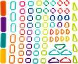 Houten blokken en knoppenblokken - 150 stuks - Safari_