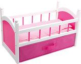 Poppen bed - roze_