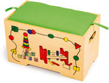 Speelgoed box - 6 houten spellen_