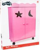Poppen garderobe kast - roze_