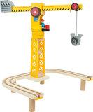 Treinbaan met bouwplaats XL - 87 stuks - spoorwegen_