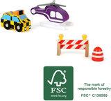 Vliegveld set voor treinbanen en autobanen - FSC_