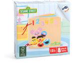 Sesamstraat nummers & kleuren - houten boekje - FSC_