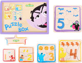 Puzzelbox van SESAMSTRAAT - 5 puzzels - FSC_