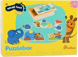 Puzzelbox met de kleine olifant en de muis_