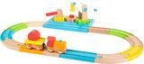 Junior collectie - houten treinbaan met hijskraan _