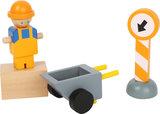 Houten bouwkraan truck - Geel_