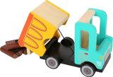 Houten vuilniswagen truck_