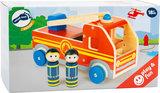 Houten brandweer auto XL - Rood_