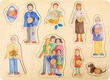 Family en vrienden noppenpuzzel - hout_