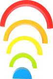 Houten bouwblokken - regenboog_