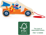 Trekfiguur SESAMSTRAAT - Race auto - FSC_
