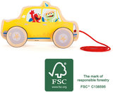 Trekfiguur SESAMSTRAAT - Taxi - Geel - FSC_