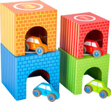 Auto parkeren - Multi kleuren - 4 auto's + 4 garages!_