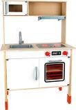 Moderne speelkeuken van hout (in hoogte verstelbaar)_