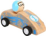 Blauwe auto - terugtrek auto - FSC_