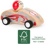 Red Race auto - terugtrek auto -  FSC_