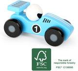 De blauwe race auto - FSC_