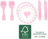 Bord en bestek speelset - FSC_