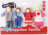 "Buigzame poppen ""Family"" - 4 stuks_"