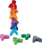 Stapel dieren met nummers - Multi kleuren_