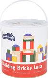 Ton met 40 kleurrijke houten blokken (vanaf 12 maanden)_