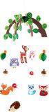 Houten mobiel - Dieren uit het bos_