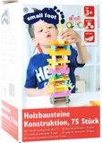 Houten stapelblokken - 75 stuks - Multi kleuren_