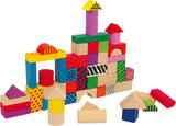 Bouwblokken 50 stuks + Kartonnen ton_