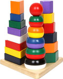 Stapelblokken pyramide - 3 in 1 - Multi kleuren_