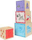 Stapel blokken met vrolijke dieren - Multi kleuren_
