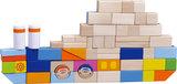 Houten blokken - onderwater wereld - 100 stuks_