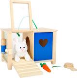 Konijnenhok met accessoires - zorg speelgoed_