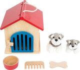 Honden kennel met accessoires - zorg speelgoed_