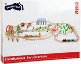 Treinset XXL - 140 stuks + rotonde en bos - spoorwegen_