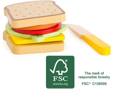 Snacktime - Houten speel eten - FSC