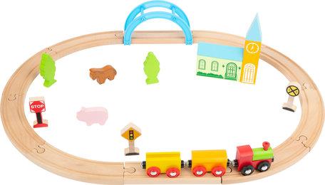 Junior collectie - houten treinbaan met stad