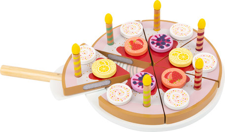 Houten Snijbare Verjaardagstaart met Kaarsen