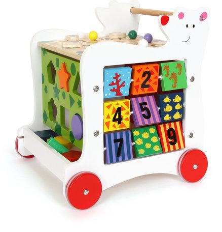 Loopwagen met leuke beer - Vormen, kleuren en letters leren herkennen