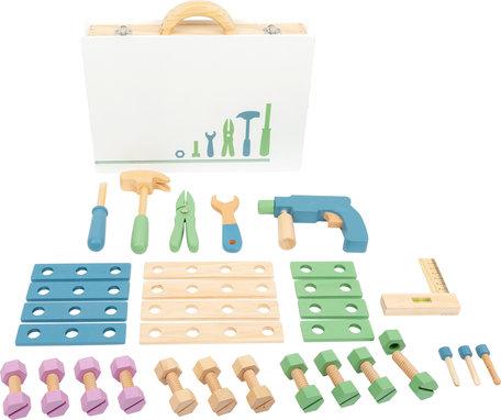 Houten speelgoed toolbox - Nordic