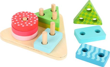 Geometrische vormen puzzelspel - Multi kleuren