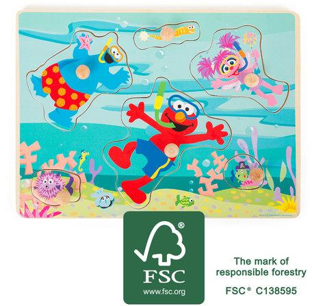 Puzzel SESAMSTRAAT - Onderwater wereld - FSC