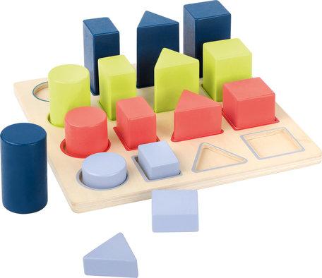 Geometrische vormenstoof puzzel