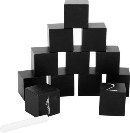 Schoolbord bouwstenen - zwart - 13 stuks
