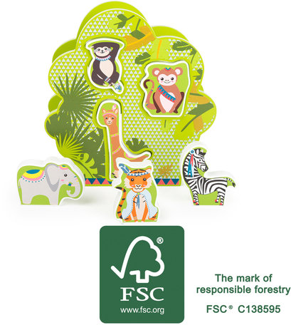 Vormenstoof - dieren in de jungle - FSC